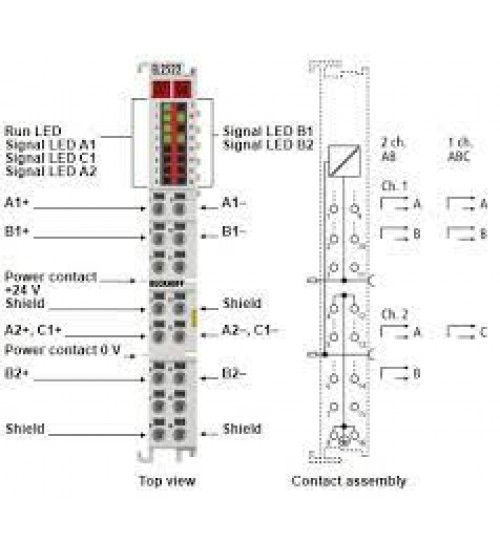 EL2522 | 2-channel pulse train output terminal RS422/24 V DC