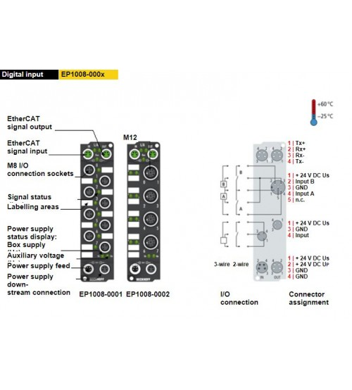 EP1008-000x | 8-channel digital input 24 V DC, 3.0 ms